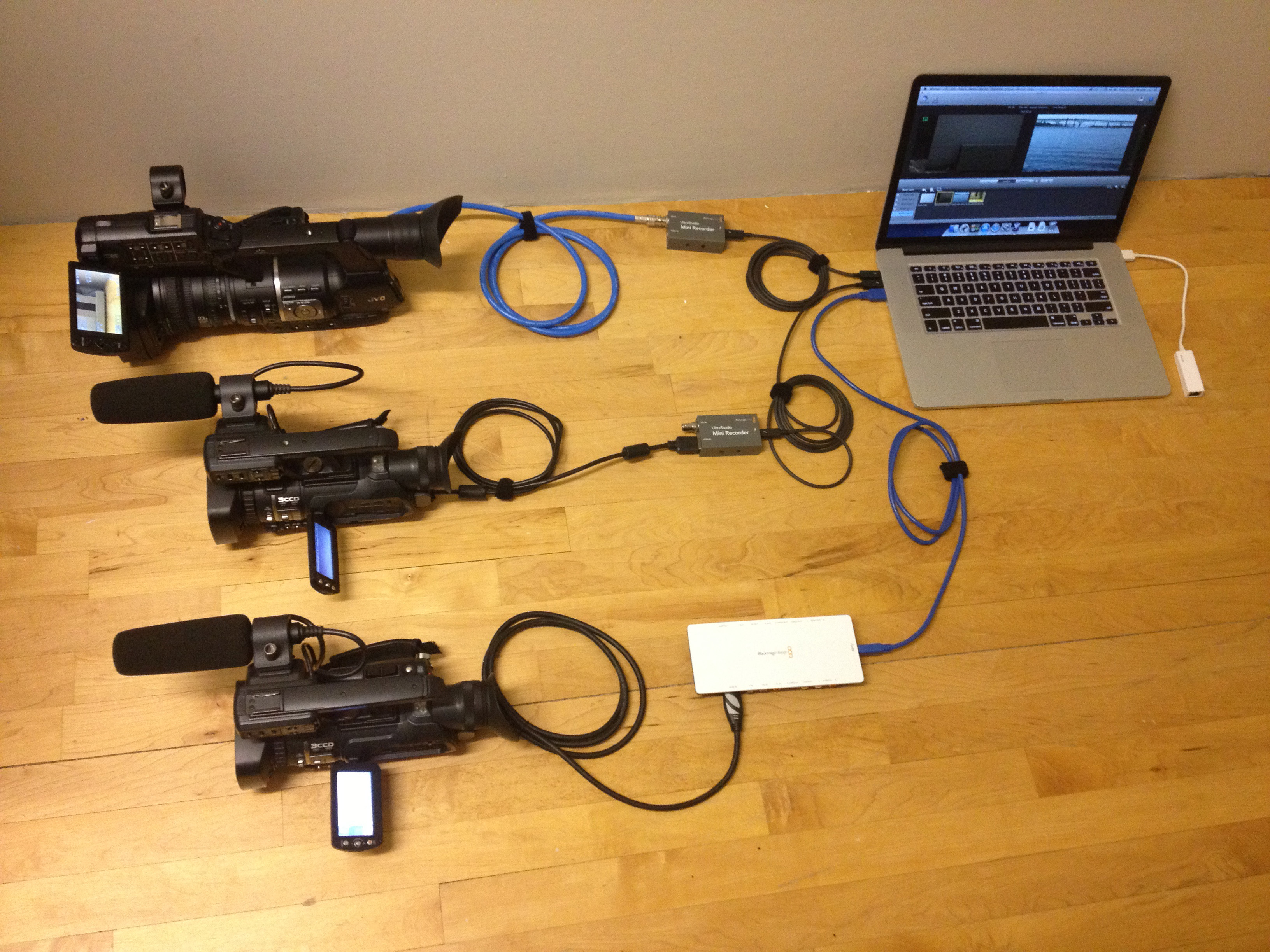 High Definition, Three Camera Inputs, One Laptop, $3,500. - Stretch ...